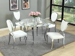 round glass dining table and chairs round glass dining table with 4 white regarding awesome household