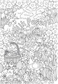 25 Bladeren Placemat Pasen Kleurplaat Mandala Kleurplaat Voor Kinderen