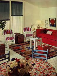 Red And Blue Living Room 1960s Decorating Style 16 Pages Of Painting Ideas From 1969