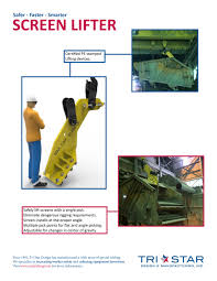 Specialty Design And Manufacturing Screen Lifter Tri Star Design Manufacturing Inc