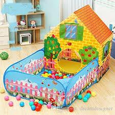 kids playhouse tent indoor outdoor garden garden tent 2 in 1 with ball poll baby tent kid tents from dreamdesigner 53 27 dhgate com