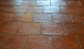 Close up of Teatree Terracotta 200 x 200 x 20mm once sealed