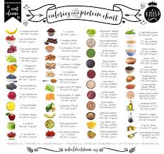 Food Chart With Calories Protein And Carbs Pin By Cynthia Whitted On Exercise Nutrition In 2019
