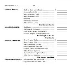 balance sheet template balance sheet templates find word templates
