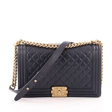 Buy Chanel Boy Flap Bag Quilted Lambskin New Medium Blue 1242001 ... & Buy Chanel Boy Flap Bag Quilted Lambskin New Medium Blue 1242001 – Trendlee Adamdwight.com
