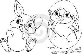 Small Picture Baby Easter Bunny Coloring Pages Happy Easter 2017