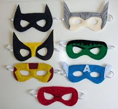 How To Make Face Mask From Chart Paper Felt Superhero Masks With Free Templates Great For Diy
