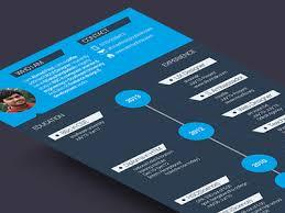 creative flat resume template psd photo detail psd resume templates