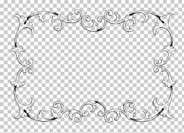 borders and frames classic frames vintage frame rectangular black filigree frame ilration png clipart