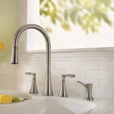 Double Handle Kitchen Faucet Kitchen Bar Faucets Pull Down Brushed Polished Chrome Semi