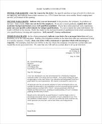 Simple Sample Cover Letters Sample Basic Cover Letter 8 Examples In Word Pdf