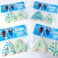 frozen thank you cookies