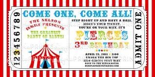 Invitation Ticket Template Circus Tent Ticket Printable Invitation Dimple Prints Shop 26