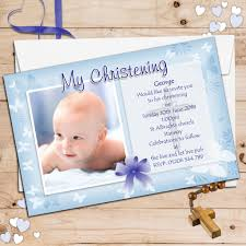 Baptism Cards 10 Personalised Boys Butterfly Christening Baptism Invitations Photo Invites N55