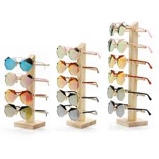 wooden sungl eye gl display rack stand holder organizer 4 5 6 layers