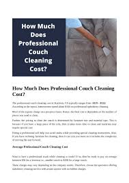 how much does professional couch