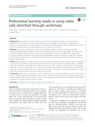 Guidelines For Hospice Admission Flip Chart Pdf Professional Learning Needs In Using Video Calls