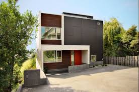 The backyard house, modern minimalist home