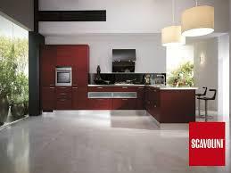 Cucine moderne rosse. cucina bicolor con maniglia record cucine