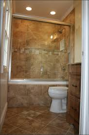 Bathroom And Tiles Tiny Bathroom With Oak Vanity And Closed Bathroom Shower Ideas On