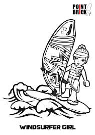 Disegni Da Colorare Lego Surfer Boy E Friends Coloring Pages