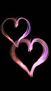 Cool Pink And Black Background Pink Hearts Black Background Cute Wallpapers