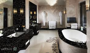 Gold Bathroom Black And Gold Bathroom As Well As Light Brown Ceramic Tile Wall