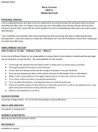 Software Tester Cv Example Resume | Swarnimabharath.org
