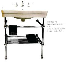 sink with metal legs my bathroom consoles basin and sinks console belle pedestal c double console sink with brass metal legs pedestal