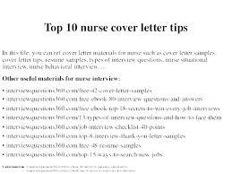 Nursing Cover Letter Templates Dew Drops