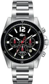 men s lacoste seattle chronograph black dial watch 2010644