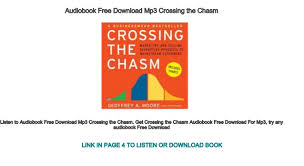 Audiobook Free Download Mp3 Crossing The Chasm Marketing