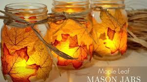 Decorating Jam Jars For Candles HowTo Autumn Leaf Mason Jar Candle Holders Make 47