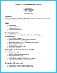 Banking Resume Examples Beauteous E Of Re Mended Banking Resume Examples To Learn Sample Of Banking