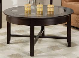 demilune round coffee table w glass top