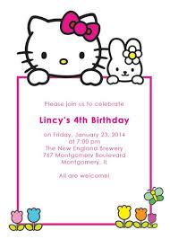Printable Hello Kitty Invitations Personalized Hello Kitty Birthday Invitation Card Major Magdalene
