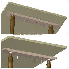 how to attach the tabletop to a table structure that has no a