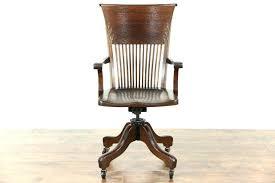 antique swivel office chair. Antique Swivel Desk Chair Remarkable Oak Adjustable Arms Wheels Modern Office