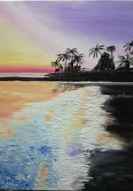 oil painting sunset on the beach paintings expressionism impressionism daily life
