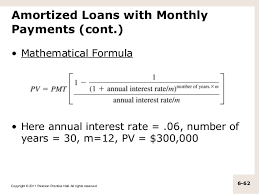 Amortize A Loan Formula Home Mortgage Home Mortgage Monthly Payment Formula