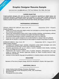Sample Graphic Design Resume Musiccityspiritsandcocktail Com