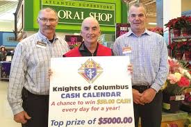 the truro knights of columbus will be seen regularly at truro s atlantic super this holiday season