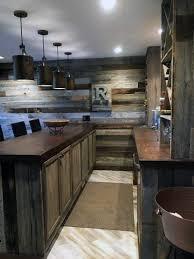 E Bar Rustic Basement Ideas