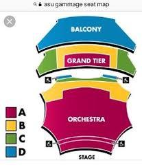 Asu Gammage Theater Seating Chart 1 3 Dear Evan Hansen Tickets Orchestra 12 2 18 Asu Gammage