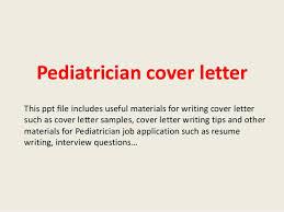 Resume For Pediatrician Pediatrician Cover Letter