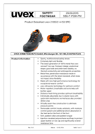 Uvex Safety Shoes Size Chart Uvex Safety Shoes Conforms To En Iso 20345 2011 S3 Src
