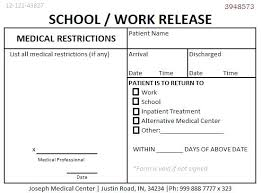 Urgent Care Doctors Note Template Professional For Work Return To ...