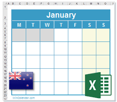 excel 2018 yearly calendar 2018 excel calendar with nz holidays
