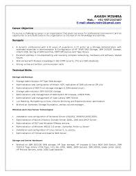 Linux Admin Resume Sample Linux System Administrator Resume India