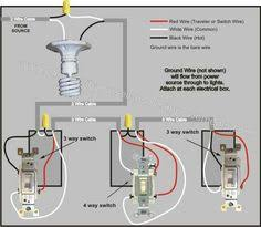 2 way switch with lights wiring diagram electrical pinterest Wiring Diagram Symbols at Woodshop Wiring Diagram